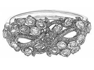 Sketch of Rich Gems beautiful Myanmar jewelry design